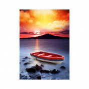 Fineser(TM) DIY Diamond painting Cross Stitch 5D Embroidery Paintings Rhinestone Pasted Boat A