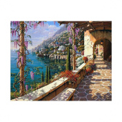 Fineser(TM) DIY Diamond painting Cross Stitch 5D Embroidery Paintings Rhinestone Pasted Mediterranean Sea F