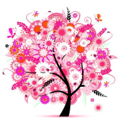 Fineser(TM) 5D Embroidery Paintings Rhinestone Pasted DIY Diamond painting Cross Stitch Pink Tree