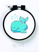 Dimensions Learn A Craft Stamped Cross Stitch Kit The Whale