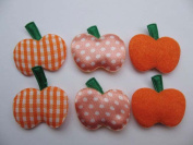YYCRAFT Pack Of 60 Felt/Satin Pumpkin Applique/Halloween/motif/bows-3 Colours