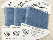 splendour SILK THREAD-colour -915-ANTIQUE BLUE-THIS LISTING IS FOR 1 CARD-TOTAL 3 CARDS AVAILABLE