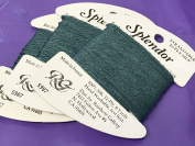 splendour SILK THREAD-colour -987-VERY DARK grey GREEN-1 CARD IN THIS LISTING-TOTAL OF 3 AVAILABLE