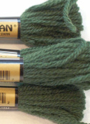 Paternayan Needlepoint 3-ply Wool Yarn-Colour-601-Forest Green-2 MINI 8- YDS SKEINS WITH THIS LISTING