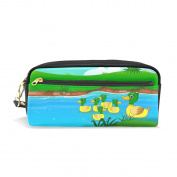 Pencil Case Hmbrothers Stylish Print Duck Pattern Large Capacity Pen Bag Makeup Pouch Durable Students Stationery Two Pockets With Double Zipper