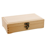 Wood Hinged Box, Artist Pastel Pen Marker and Supplies Storage Box