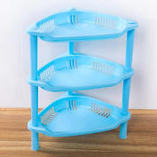 3-Shelf Corner Shelf ,3 Tier Plastic Corner Organiser Bathroom Caddy Shelf Kitchen Storage Rack Holder,Tuscom
