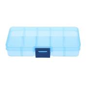 Plastic Storage Box,Awakingdemi 10 Compartments Transparent Plastic Jewellery Pills Box Organiser Storage