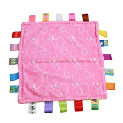 SOURBAN Baby Comforting Taggies Blanket Super SoSquare ft Plush Baby Appease Towel