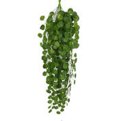 xinstar 1Pcs Fake Green Hanging Vine Artificial Plant Leaves Garland Creative Home Garden Wall Decoration
