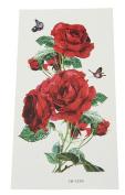 YueLian 5pcs Women Rose Body Art Stickers Removable Waterproof Temporary Tattoo Stickers