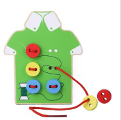 Kids Educational Toys Children Beads Lacing Board Wooden Toys Toddler Sew On Buttons Early Education Teaching Aids