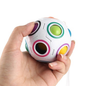OUTAD Spherical Magic Speed Cube Rainbow Ball Puzzle Brain Teasers Educational Toys for Kids