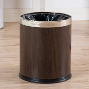 10 L Trash Can Not Cover Stainless Steel Household Trash Cans Living Room (22.5*27 Cm)