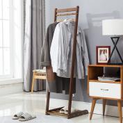 Solid wood coat rack Coat racks Nanzhu landing hangers creative simple simple modern clothes racks bedroom coat racks