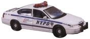 White Chevrolet Impala Police Car - Assembly Line Die Cast Model Kit