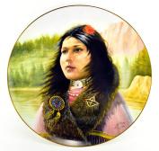 """Gregory Perillo Collectors Plate - Maiden Series Native American Indian Girl Plate """"SONG BIRD"""" c1985 COA NIB"""