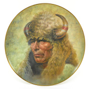 "Gregory Perillo Collectors Plate - Chieftain Series Native American Indian Plate ""CHIEF RED CLOUD"" c1980 COA NIB"