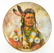 """Gregory Perillo Collectors Plate - Chieftain Series Native American Indian Plate """"CHIEF JOSEPH"""" c1979 COA NIB"""