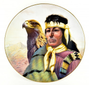"Gregory Perillo Collectors Plate - Chieftains II Series Native American Indian Plate ""CHIEF COCHISE"" c1984 COA NIB"