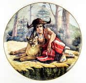 "Gregory Perillo Collectors Plate - Chieftains II Series Native American Indian Plate ""CHIEF TECUMSEH"" c1984 COA NIB"