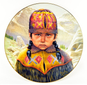 "Gregory Perillo Collectors Plate - Young Chieftains Series Native American Indian Plate ""YOUNG JOSEPH"" c1985 COA NIB"