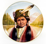 "Gregory Perillo Collectors Plate - Young Chieftains Series Native American Indian Plate ""YOUNG SITTING BULL"" c1985 COA NIB"