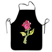 FRICSTAR Cool Apron Rose Beauty And Beast Cartoon Pattern Apron Burlap Cotton Women Apron Chef Kitchen Cooking Apron Bib