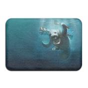 Cool Manatee Sea Cow Fish.JPG Non-slip Reusable Floor Mat