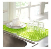 KINGZHUO Silicone Kitchen Drainer Sink Dish Drying Mat Washing Up Tea Towel