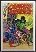 Captain America #110 Comic Book Cover Refrigerator Magnet. Hulk