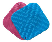 Best Quality Silicone Trivet Mat (Hot Pad), Pot Holder, Jar Opener, Spoon Rest & Coaster - Multi-purpose 5 in 1 Kitchen Tool, Heat Resistant to 442 °F, Thick, Flexible