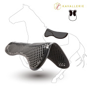 Kavallerie Gel Half Pad/ Saddle Pad - Impact Absorbing Design for Comfort - Prevent Saddle Bridging or Sore Back - Breathable & Washable - Perfect for Eventing, Schooling, Dressage, Jumping, Training