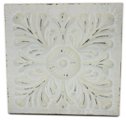 Tin Tile Embossed White, Large (Distressed, Ceiling or Decorative) | by Urban Legacy