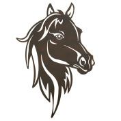 Metal Western Horse Head Wall Art, Brown