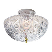 Elegant Clip On Ceiling Light Cover, Clear