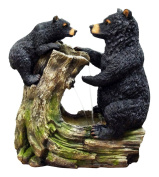 Alpine Bear And Cub Fountain Without Light, 70cm
