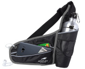 Zenflex Hydration Waist Belt for Running, Jogging, Hiking with Water Bottle Holder and Cellphone Pouch