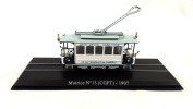 1:87 Streetcar MOTRICE N 13(CGFT)-1907 FIRT Scale Model Tram Trolly Collection