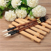 CoCocina 3PCS Chinese Calligraphy Painting Brushes Set Pen Woollen Weasel Hair