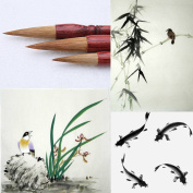 MB003 Hmay Artist's Calligraphy and Sumi Brushes 3pcs/pack - Specially for Bamboo Leaves, Orchid and Fish Painting