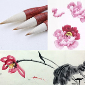 MB001 Hmay Artist's Calligraphy and Sumi Brushes 3pcs/pack - Specially for Flower Painting