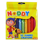 Noddy in Toyland Jumbo Chubby Colouring Crayons, Pack of 10