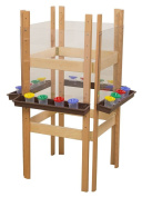 4-Sided Adjustable Easel with Acrylic and Trays