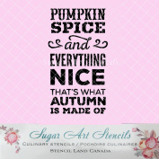 Cookie stencil Pumpkin spice everything nice fall NB1041