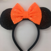 Halloween Orange Mickey Ears, Halloween Orange Minnie Ears, Mickey Ears, Halloween Disney Ears, Halloween Minnie Ears,