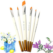 CoCocina 6 PCS Professional Drawing Set Acrylic Oil Watercolours Artist Paint Brushes