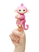 Fingerlings Glitter with Blanket - Interactive Baby Monkey Rose -