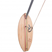 Hook And Ring Toss Deluxe Set - 100% Bamboo With 1.5m Telescoping Pole And All Parts Included - By Tiki Toss