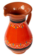 Terracotta Orange, 1.9l Pitcher - Hand Painted From Spain